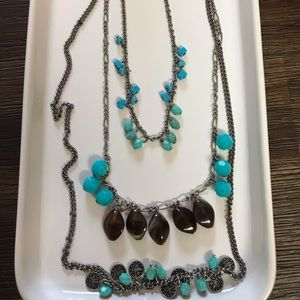 Jewelry - Turquoise and Brown Beaded Necklace